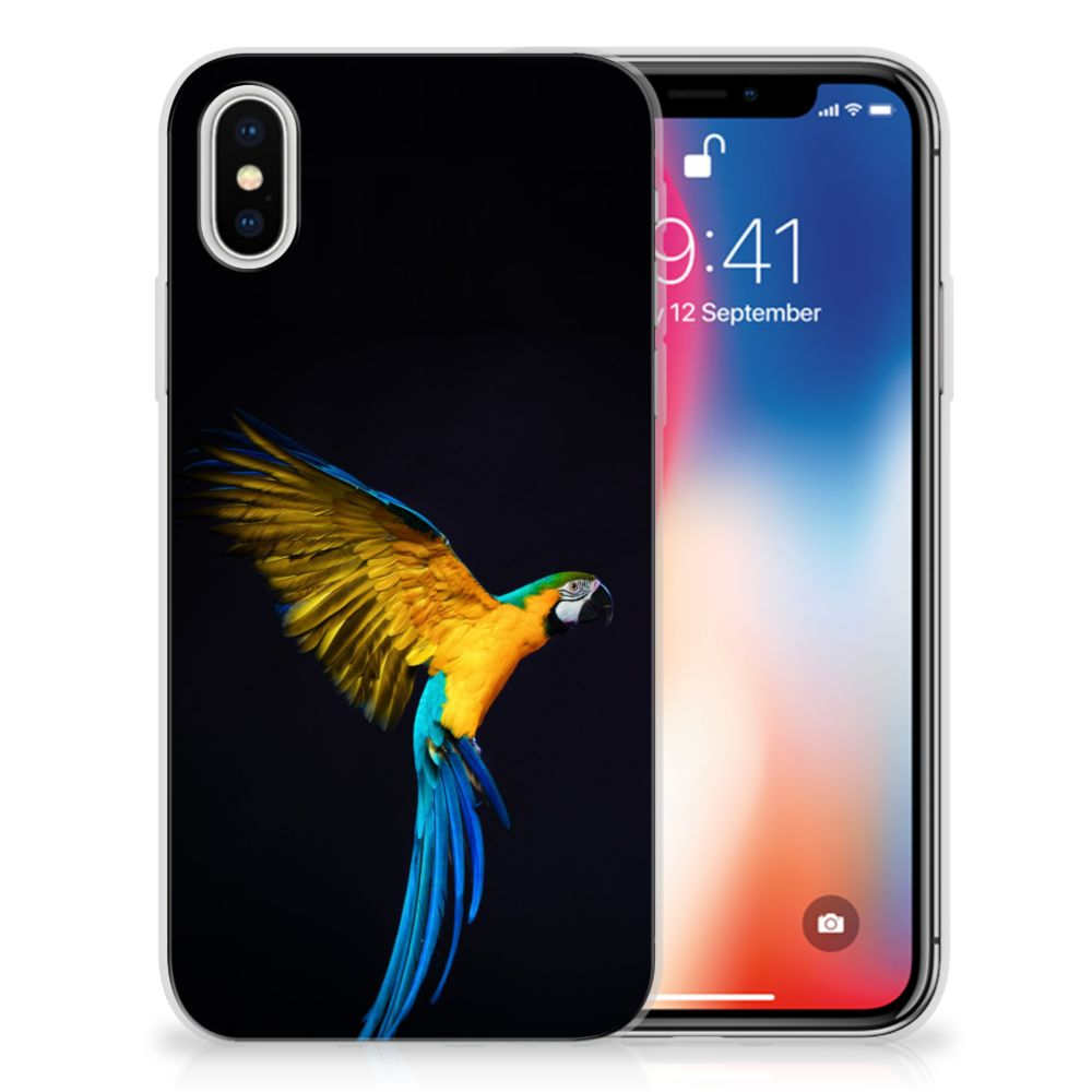 Apple iPhone X | Xs TPU Hoesje Design Papegaai