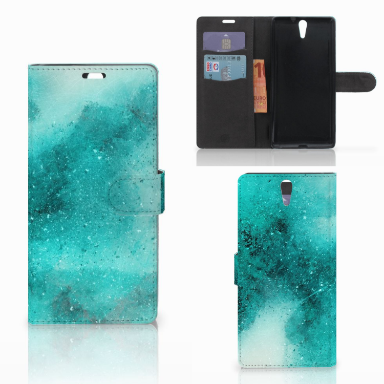 Hoesje Sony Xperia C5 Ultra Painting Blue