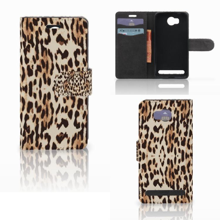 Huawei Y3 2 | Y3 II Telefoonhoesje met Pasjes Leopard