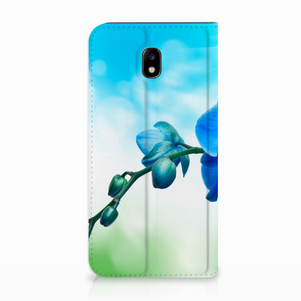 Samsung Galaxy J5 2017 Standcase Hoesje Design Orchidee Blauw