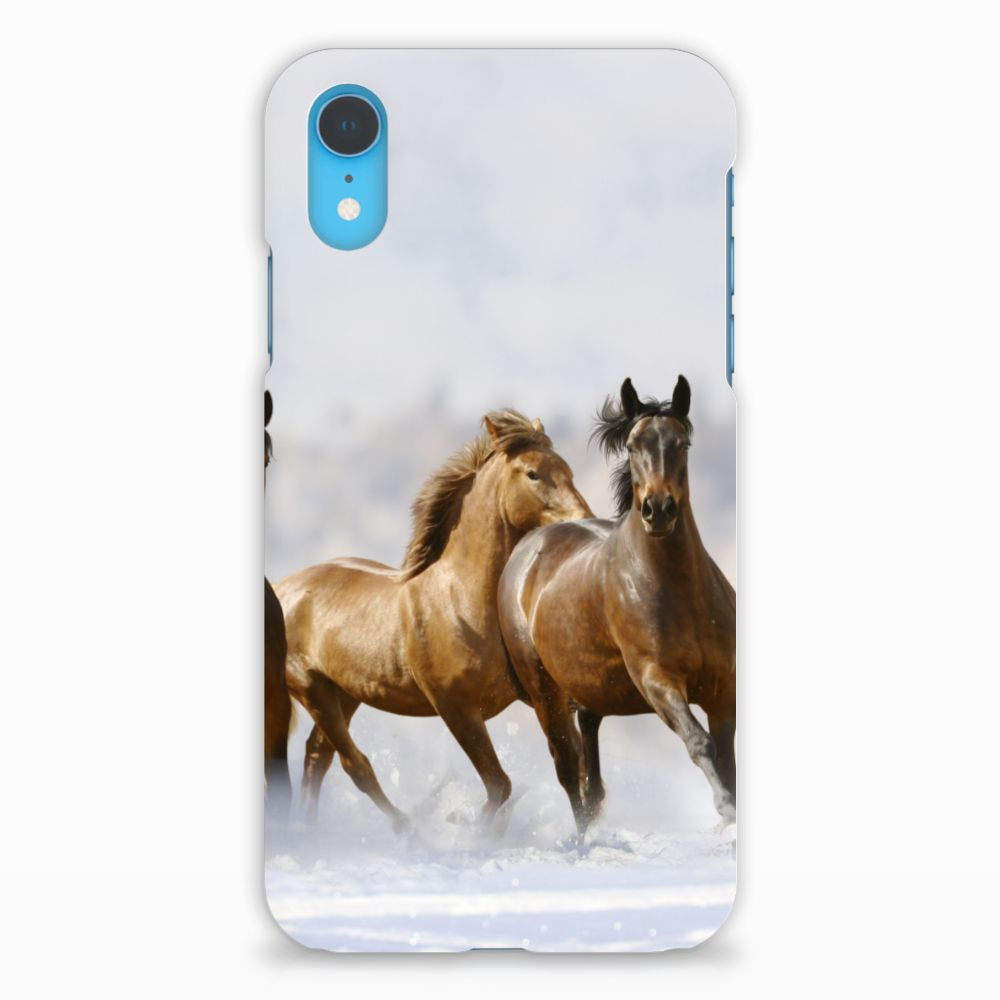 Apple iPhone XR Uniek Hardcase Hoesje Paarden