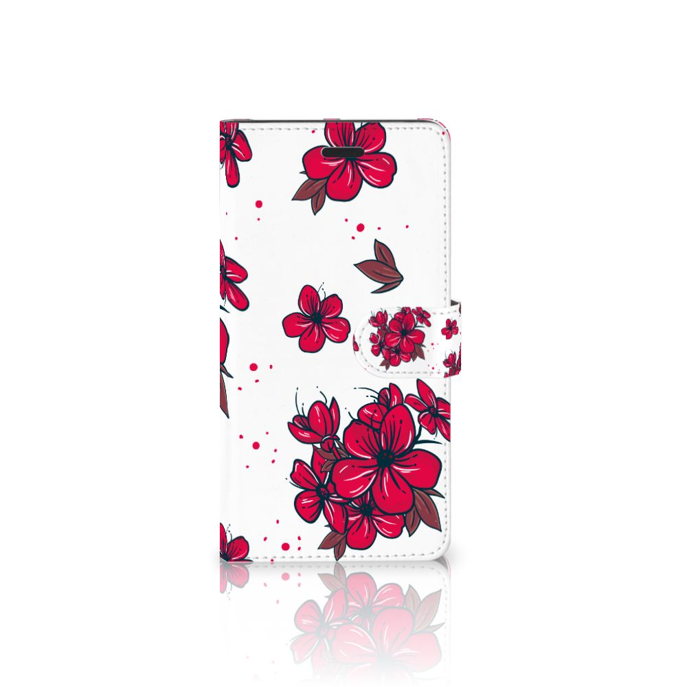 Samsung Galaxy A7 2017 Boekhoesje Design Blossom Red