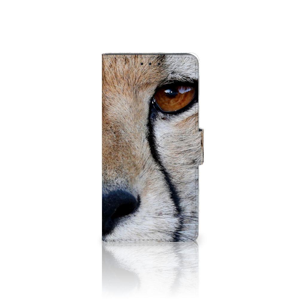 Samsung Galaxy J5 2016 Telefoonhoesje met Pasjes Cheetah