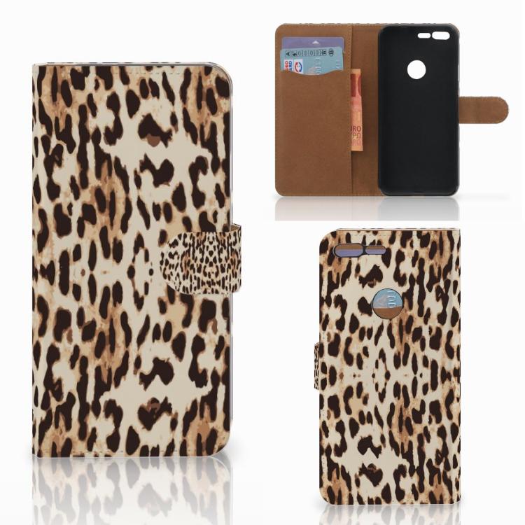 Google Pixel XL Telefoonhoesje met Pasjes Leopard