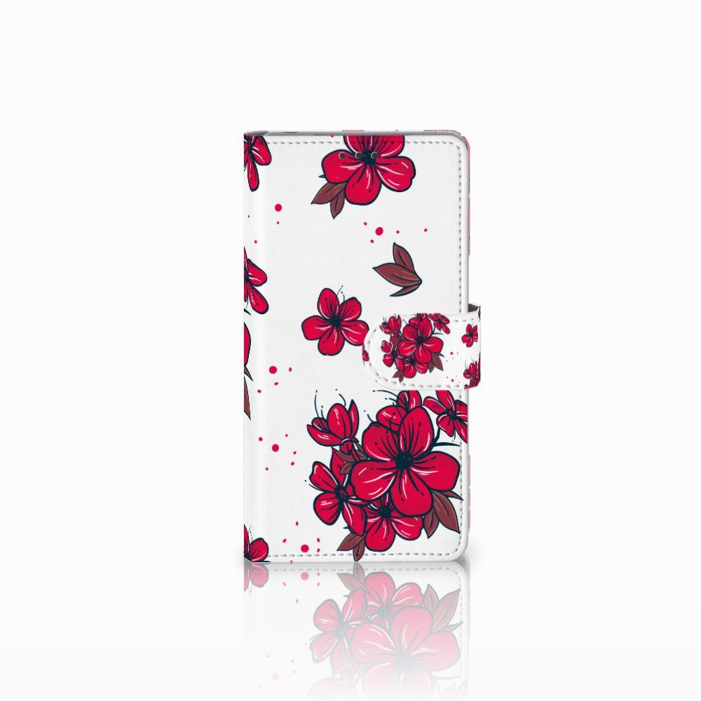 Sony Xperia Z Boekhoesje Design Blossom Red