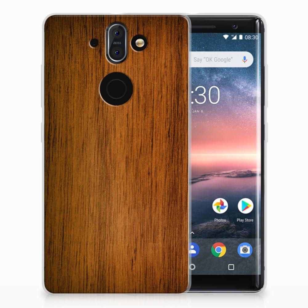 Nokia 9 | 8 Sirocco Uniek TPU Hoesje Donker Hout