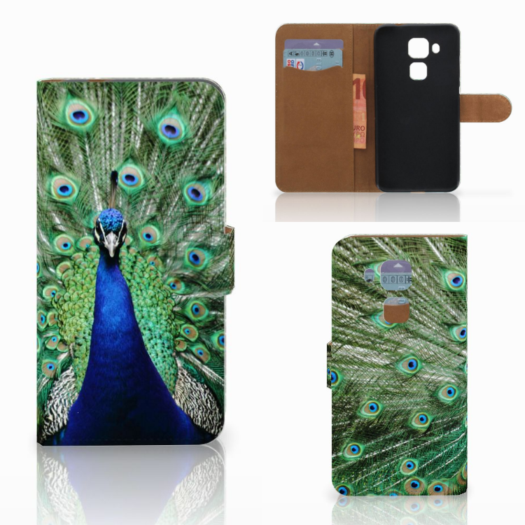 Huawei Nova Plus Telefoonhoesje met Pasjes Pauw