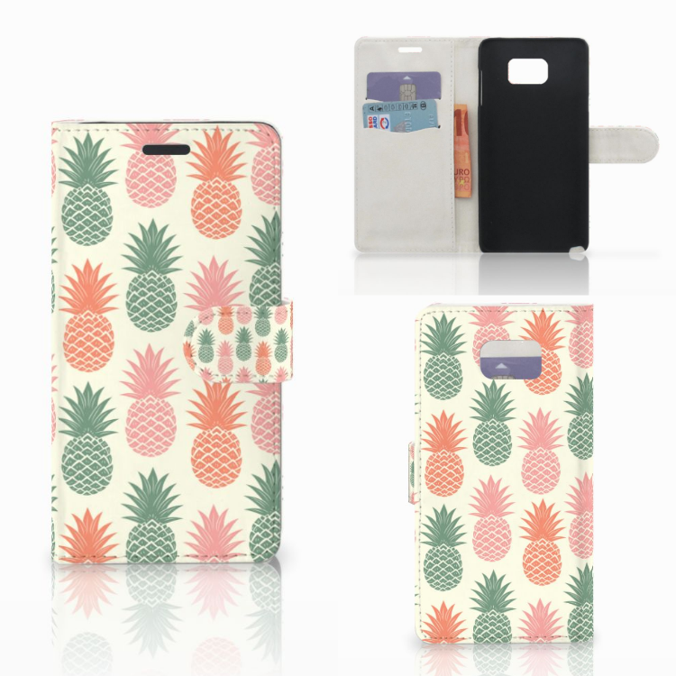 Samsung Galaxy Note 5 Book Cover Ananas