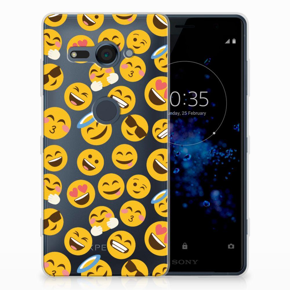 Sony Xperia XZ2 Compact TPU Hoesje Design Emoji