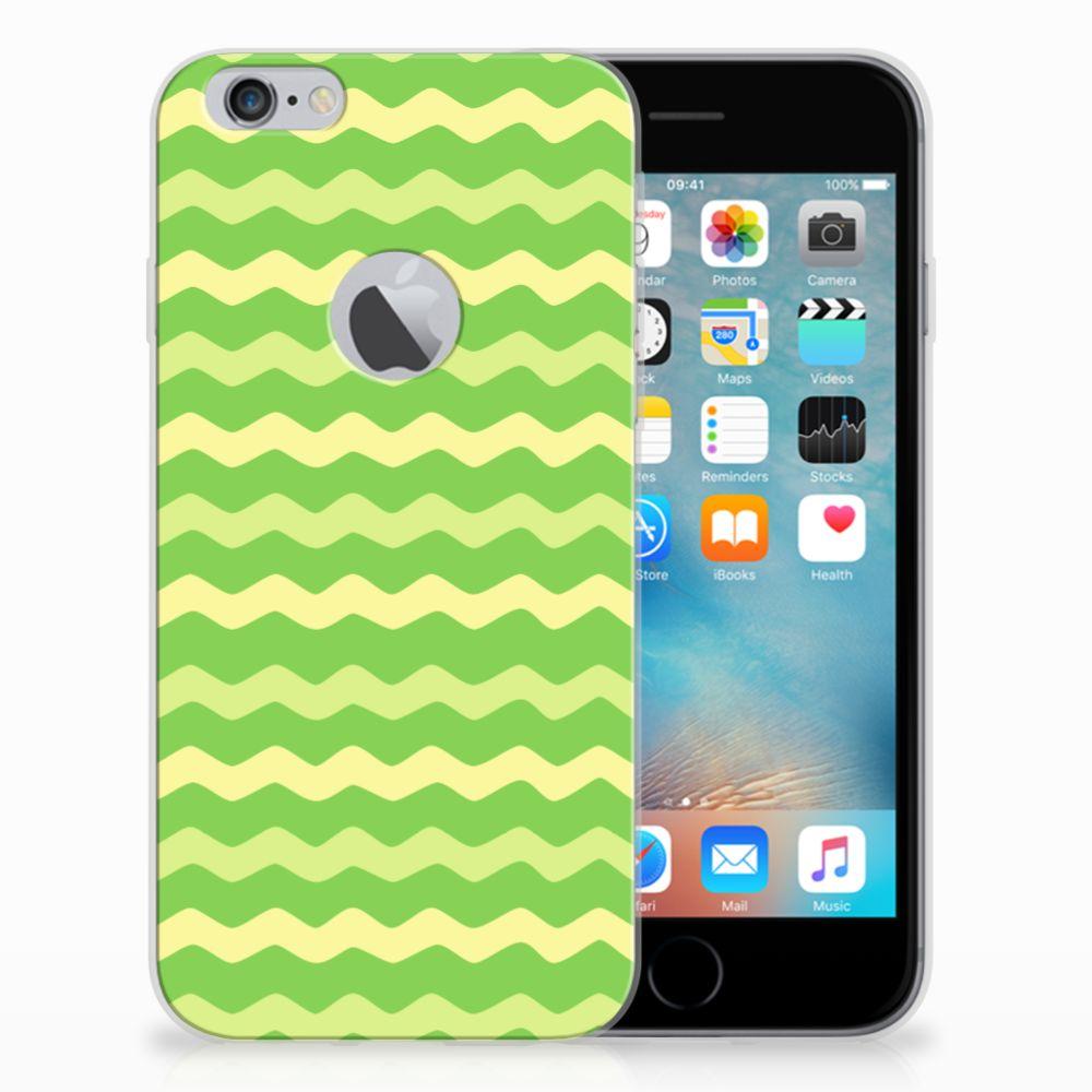 Apple iPhone 6 Plus | 6s Plus TPU bumper Waves Green