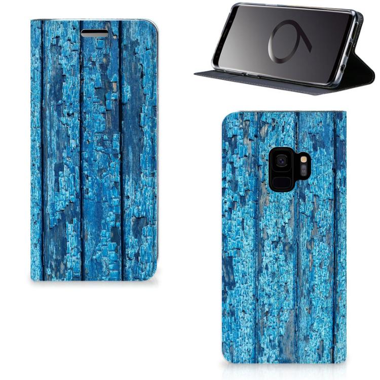 Samsung Galaxy S9 Book Wallet Case Wood Blue