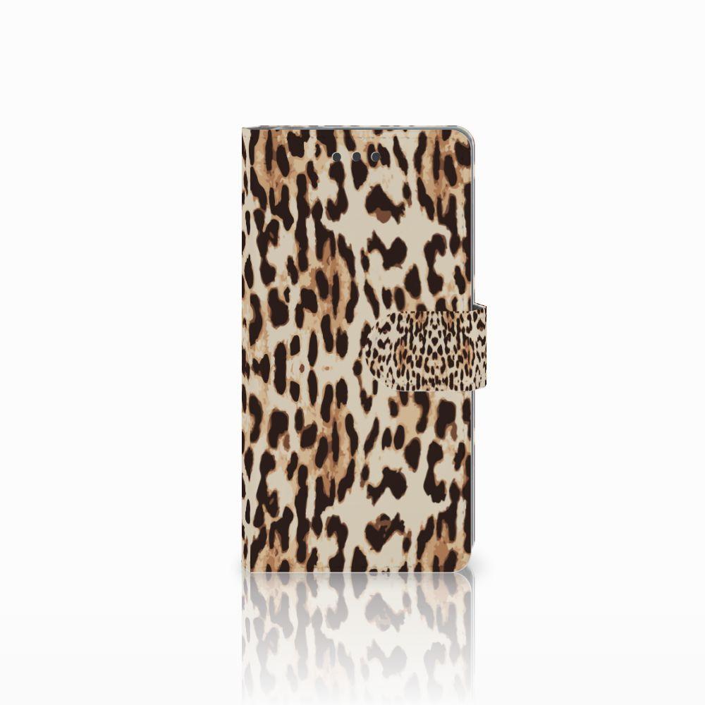 Sony Xperia E5 Uniek Boekhoesje Leopard