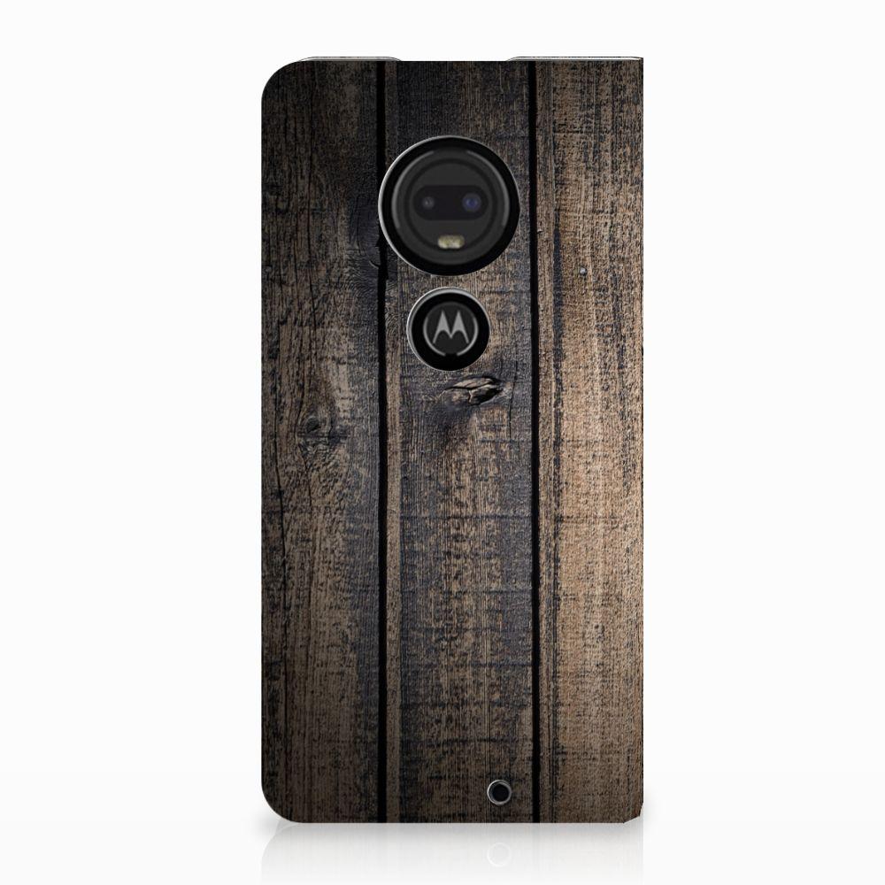 Motorola Moto G7 | G7 Plus Standcase Hoesje Design Steigerhout