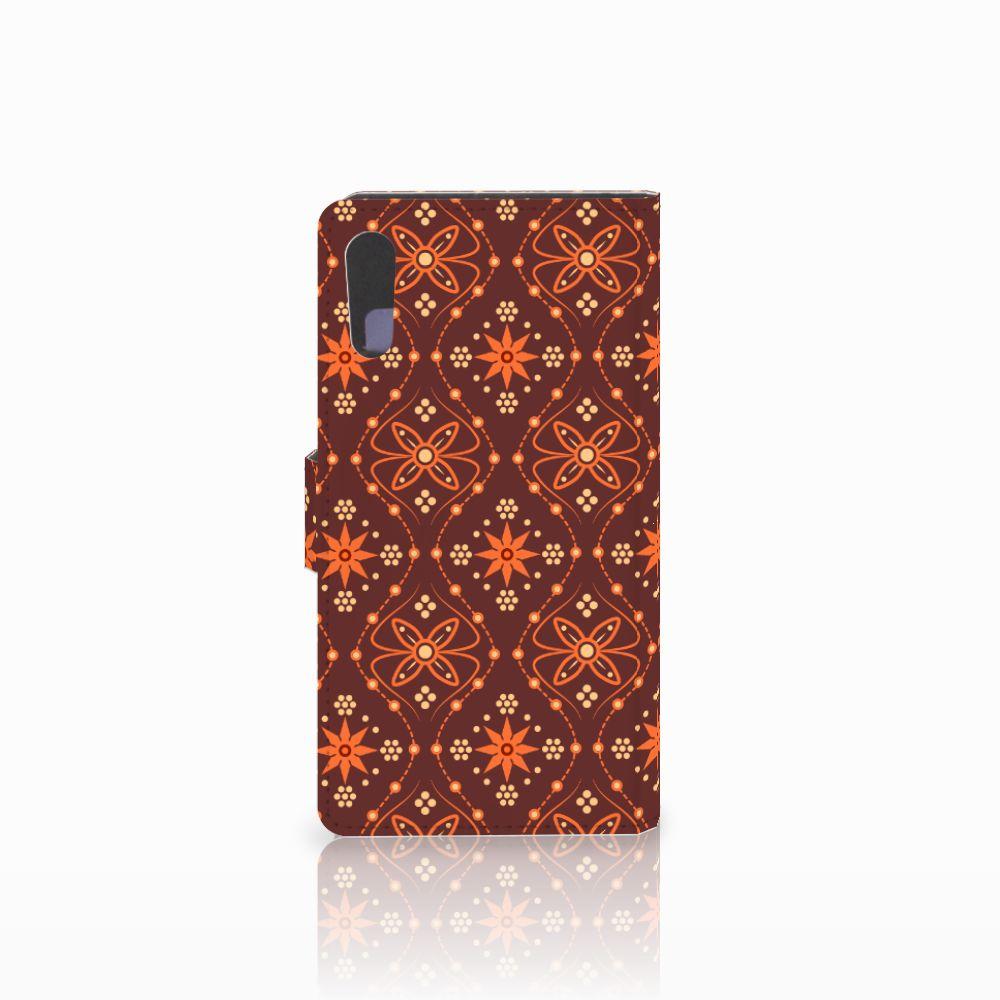 Sony Xperia XZ | Sony Xperia XZs Telefoon Hoesje Batik Brown