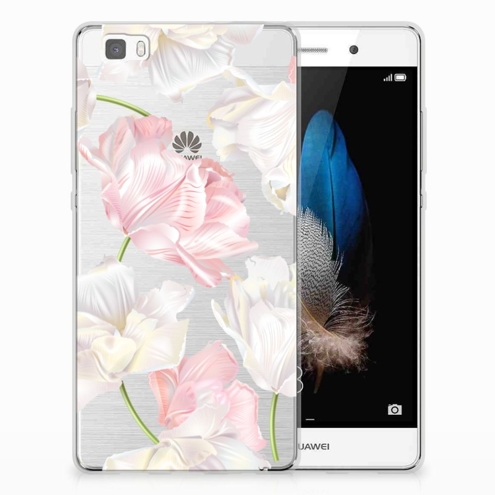 Huawei Ascend P8 Lite TPU Case Lovely Flowers