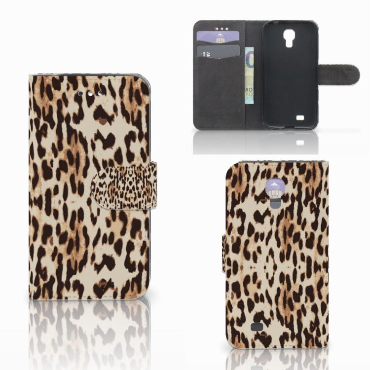 Samsung Galaxy S4 Telefoonhoesje met Pasjes Leopard