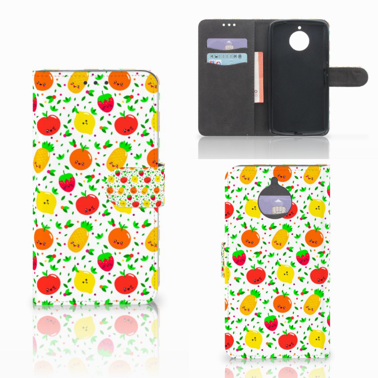 Motorola Moto E4 Plus Book Cover Fruits