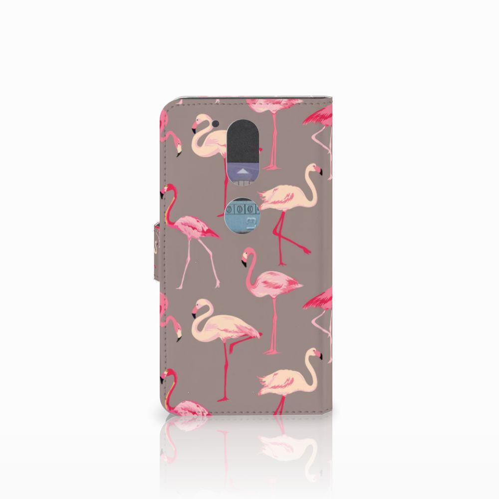Motorola Moto G4   G4 Plus Telefoonhoesje met Pasjes Flamingo