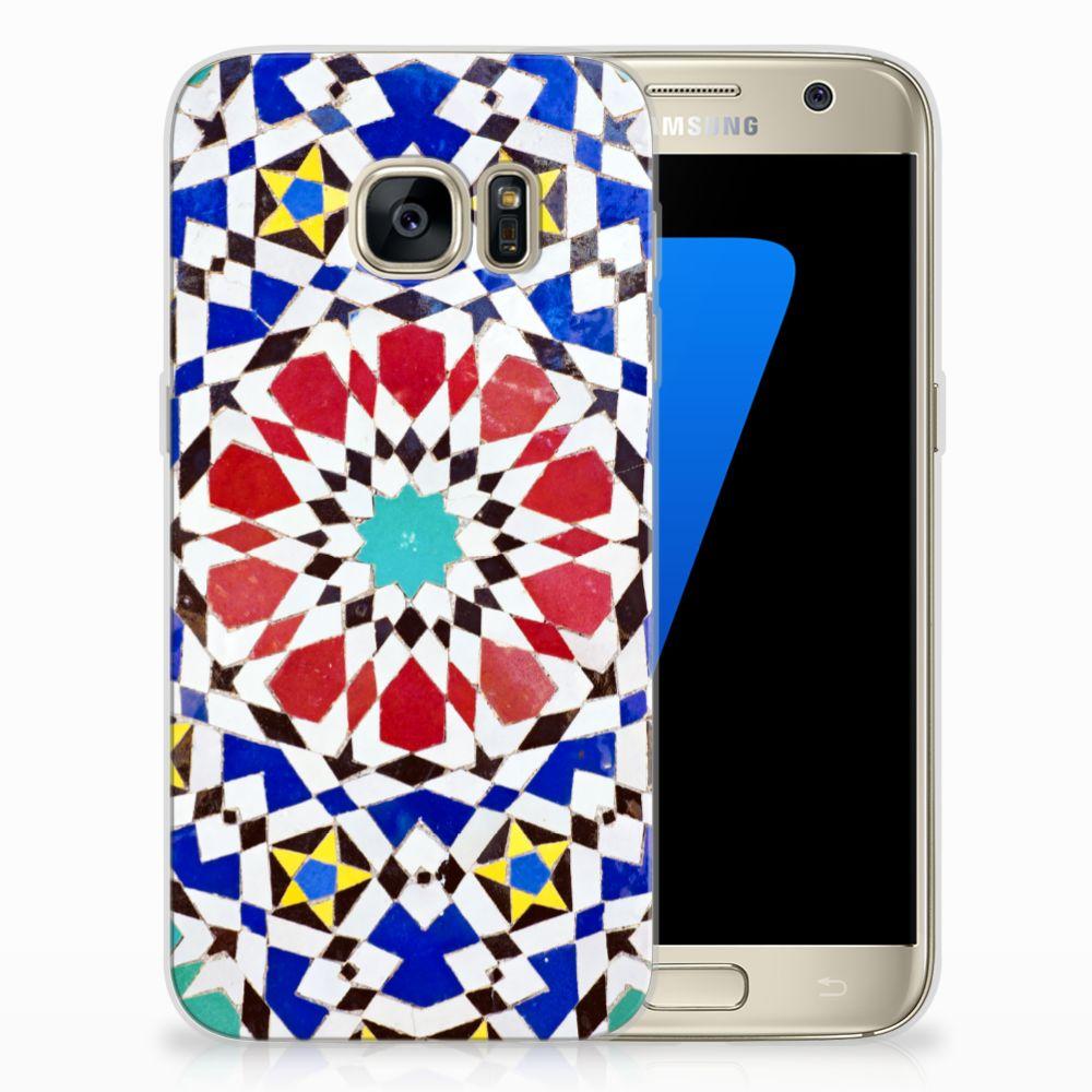 Samsung Galaxy S7 TPU Siliconen Hoesje Mozaïek