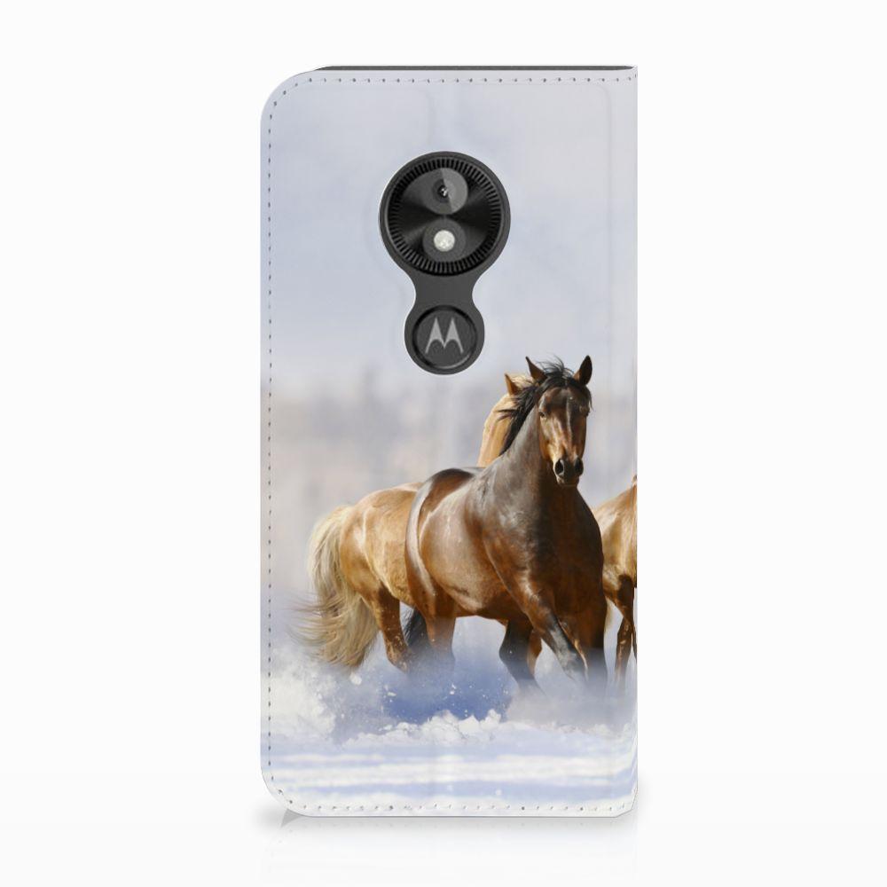 Motorola Moto E5 Play Uniek Standcase Hoesje Paarden