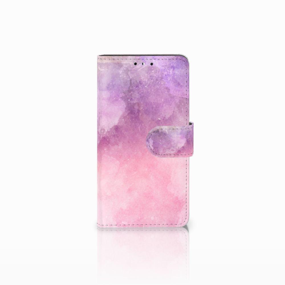 Huawei Y5   Y6 2017 Boekhoesje Design Pink Purple Paint