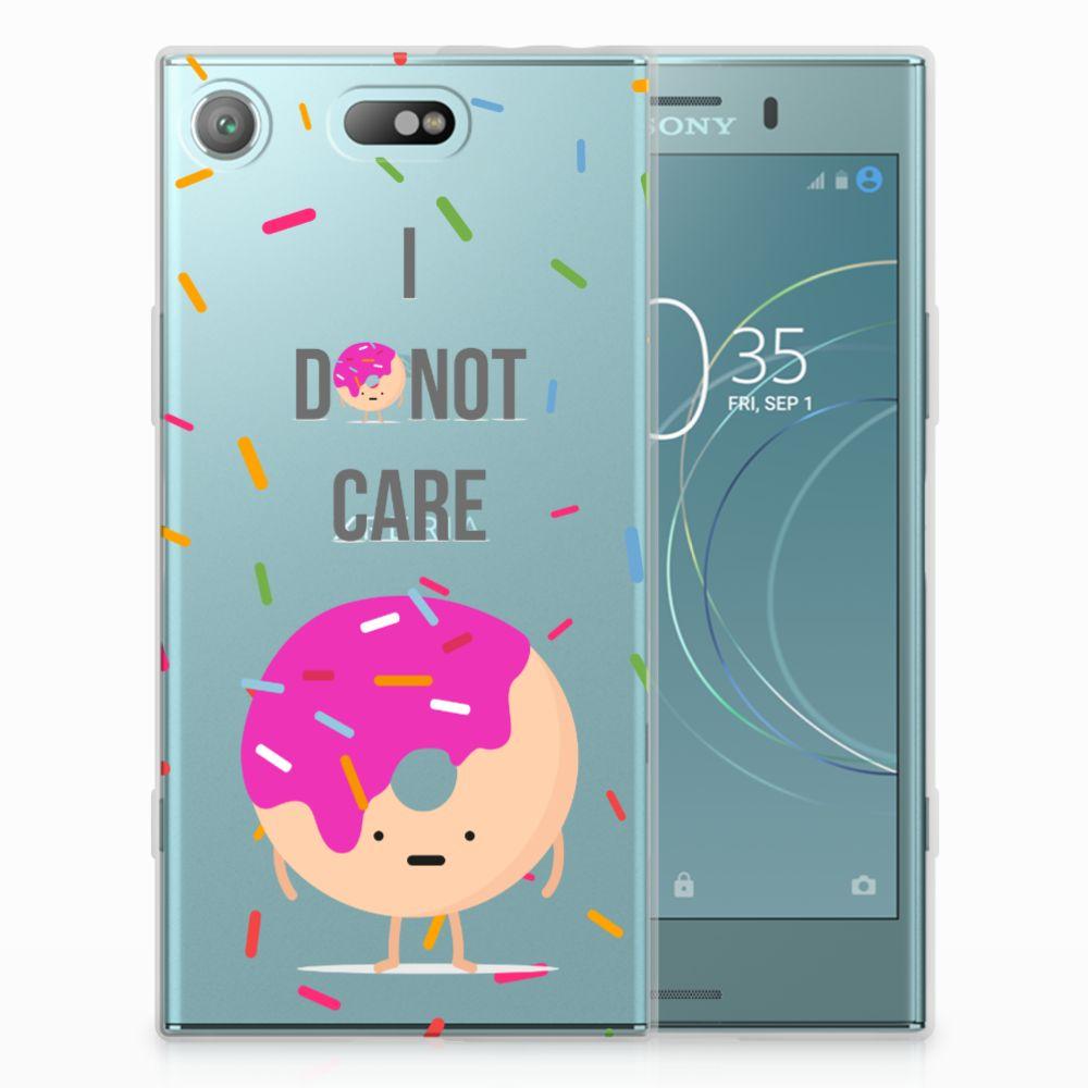 Sony Xperia XZ1 Compact Siliconen Case Donut Roze