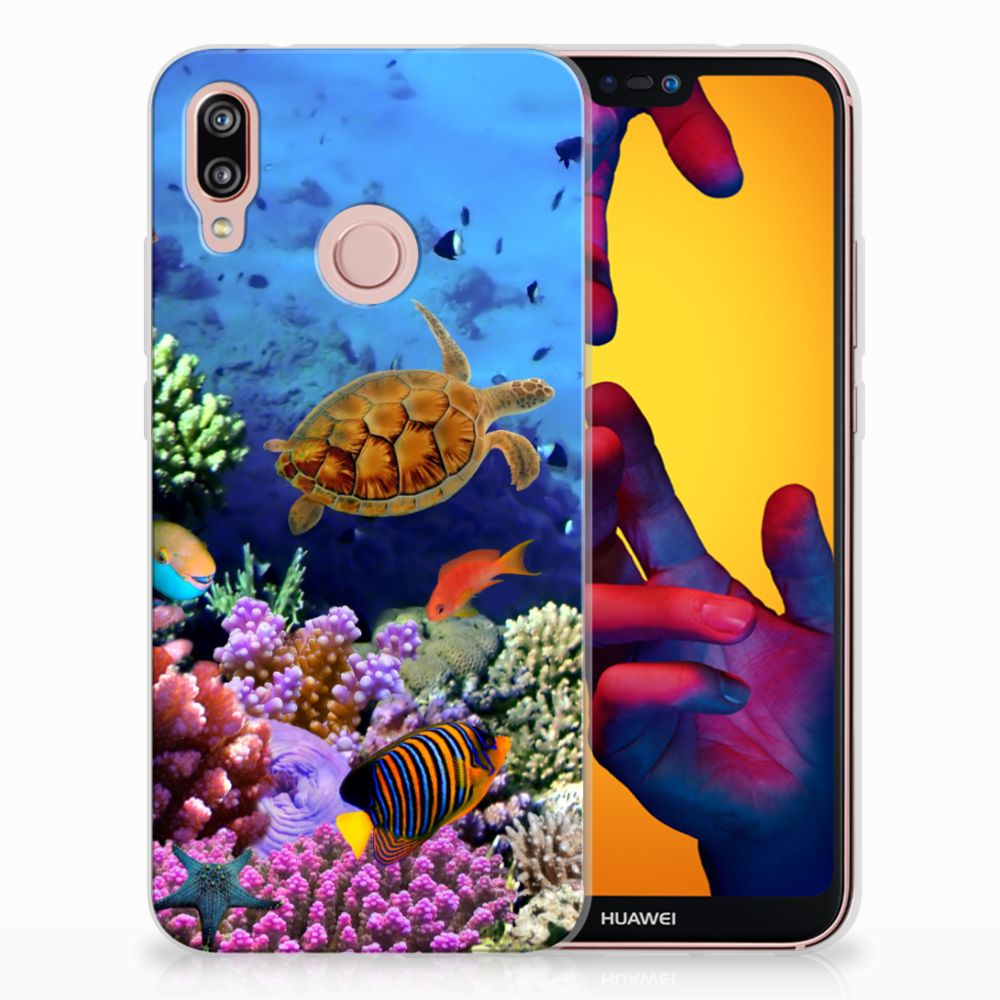 Huawei P20 Lite TPU Hoesje Design Vissen