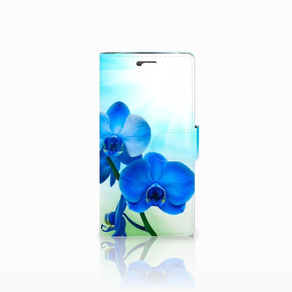 LG K10 2015 Hoesje Orchidee Blauw