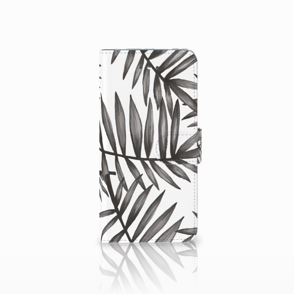 LG Nexus 5X Uniek Boekhoesje Leaves Grey