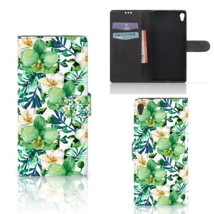 Sony Xperia XA Ultra Hoesje Orchidee Groen