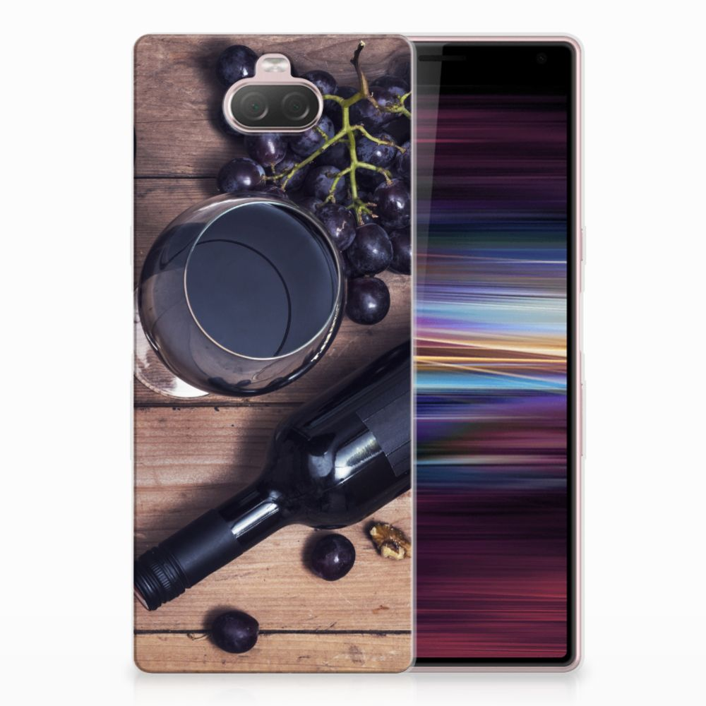 Sony Xperia 10 Siliconen Case Wijn