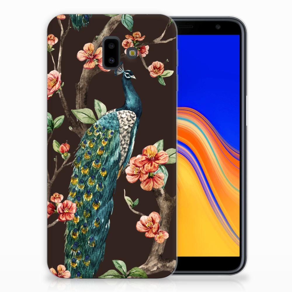 Samsung Galaxy J6 Plus (2018) Leuk Hoesje Pauw met Bloemen
