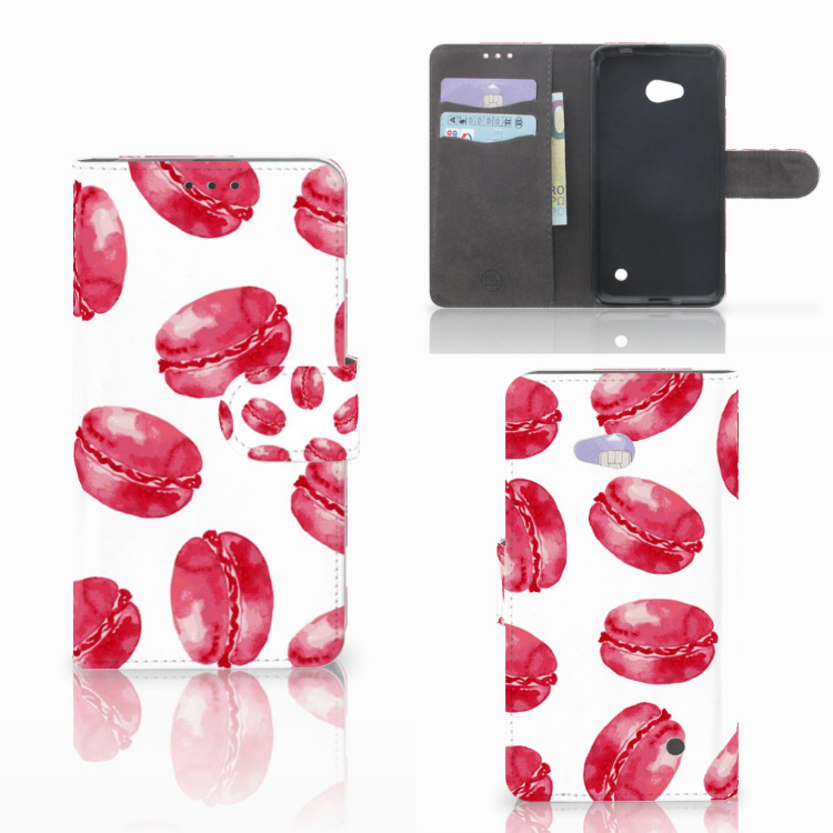 Microsoft Lumia 640 Book Cover Pink Macarons