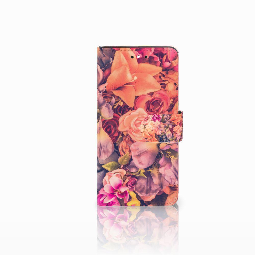 Huawei P8 Lite Smart (GR3) Boekhoesje Design Bosje Bloemen