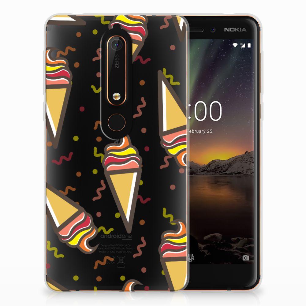 Nokia 6 (2018) Siliconen Case Icecream