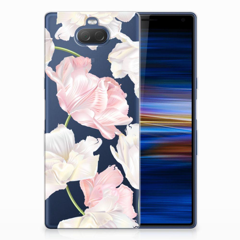 Sony Xperia 10 Plus TPU Hoesje Design Lovely Flowers