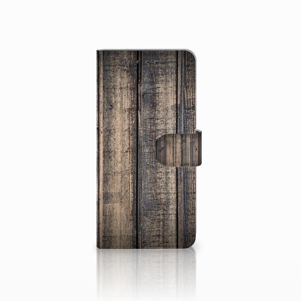 Motorola Moto E5 Plus Boekhoesje Design Steigerhout