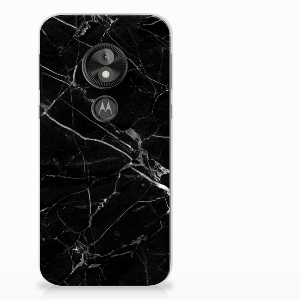 Motorola Moto E5 Play Uniek TPU Hoesje Marmer Zwart