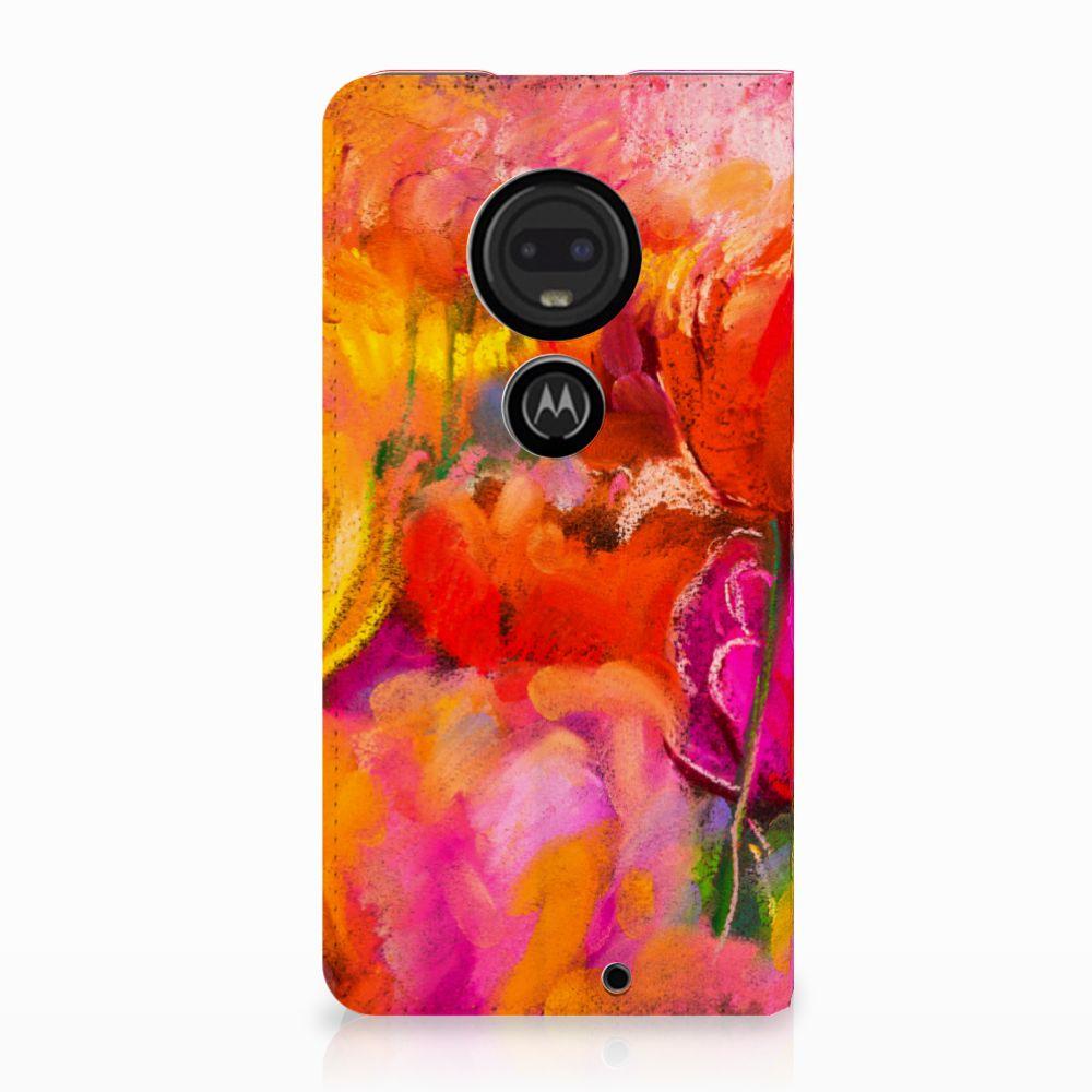 Motorola Moto G7 | G7 Plus Standcase Hoesje Design Tulips