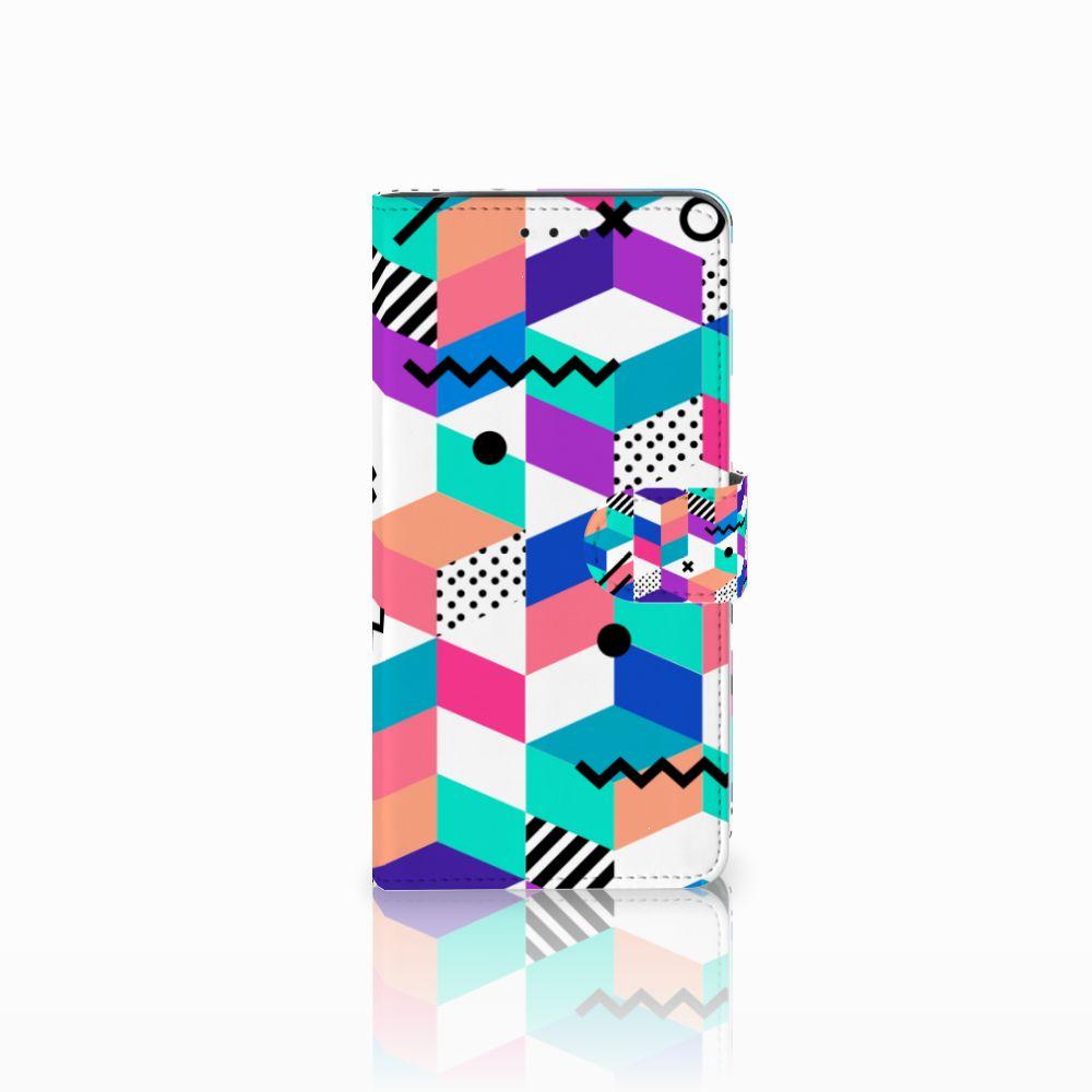 Samsung Galaxy J6 Plus (2018) Boekhoesje Design Blocks Colorful