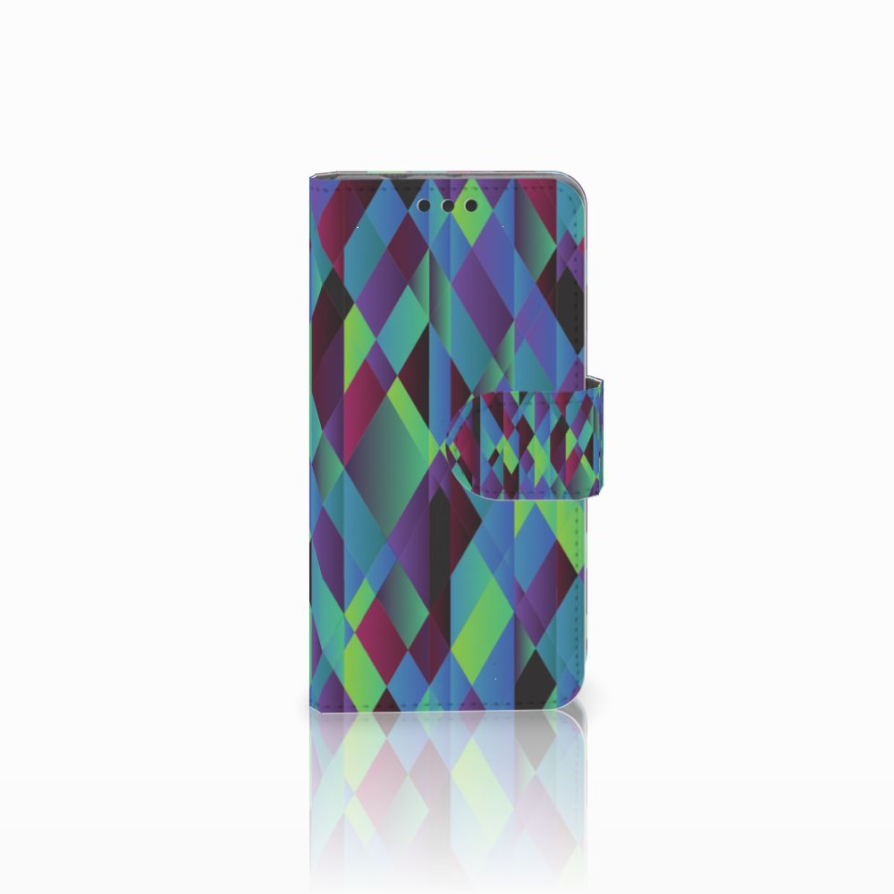 Sony Xperia Z3 Compact Bookcase Abstract Green Blue
