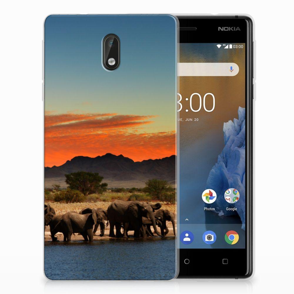 Nokia 3 TPU Hoesje Design Olifanten