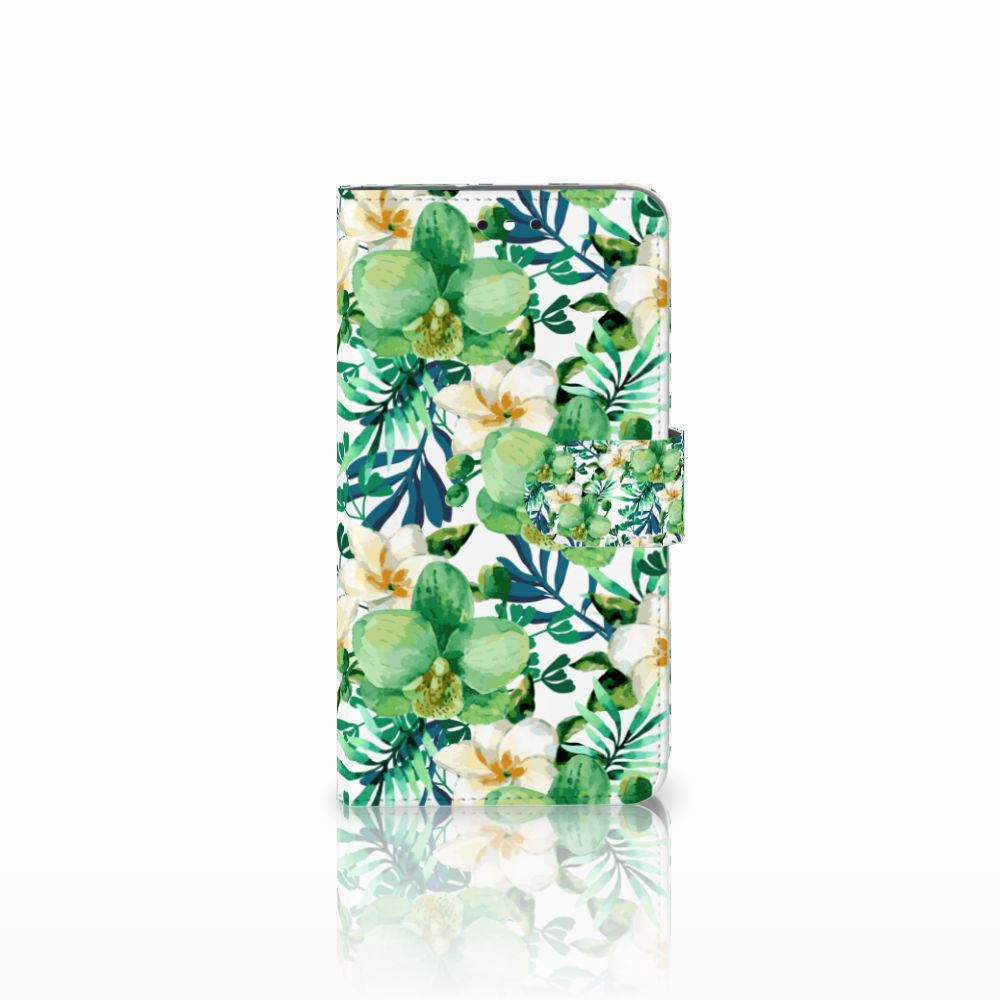 Motorola Moto G4 | G4 Plus Uniek Boekhoesje Orchidee Groen