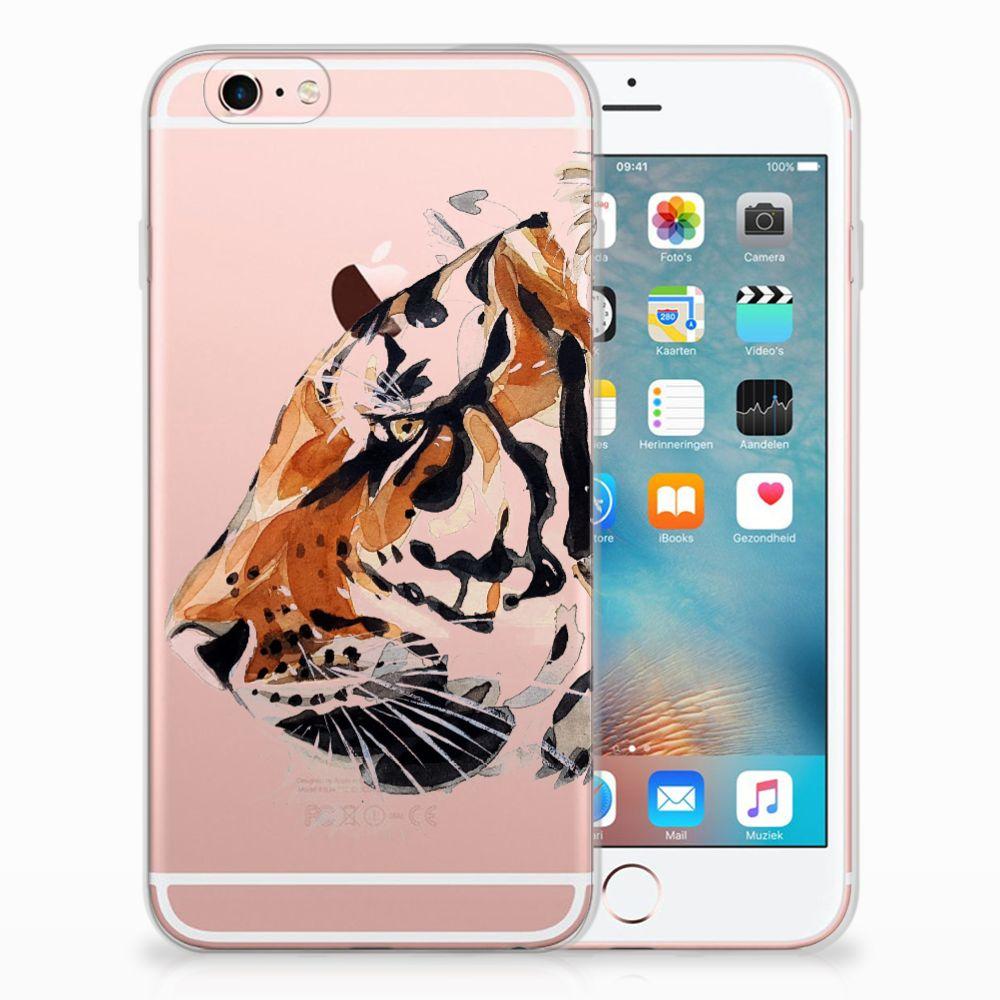 Apple iPhone 6 | 6s Uniek TPU Hoesje Watercolor Tiger
