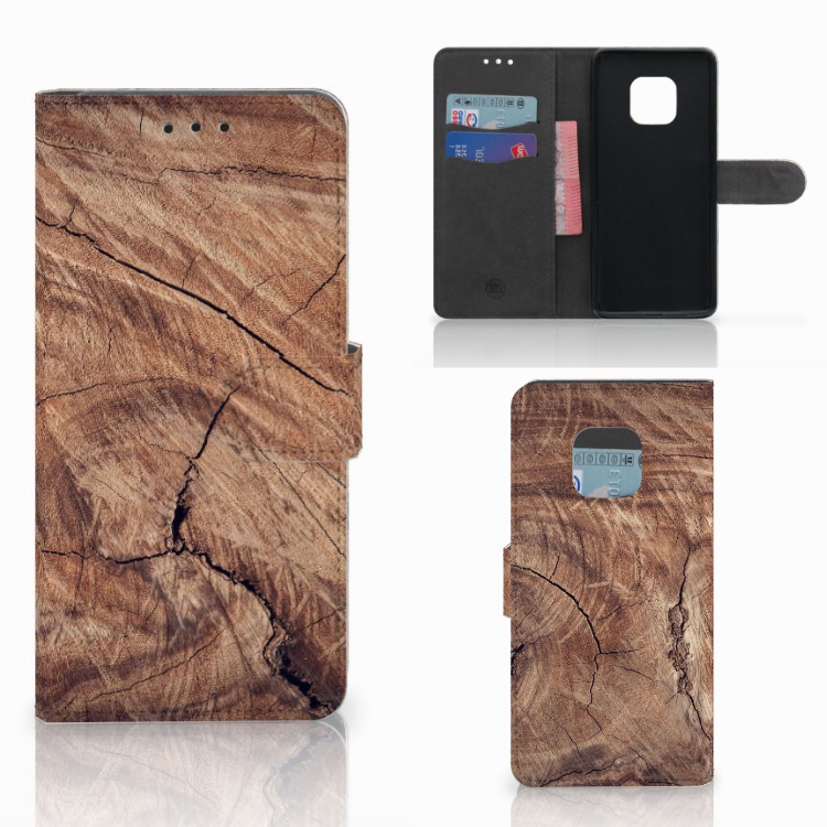 Huawei Mate 20 Pro Book Style Case Tree Trunk