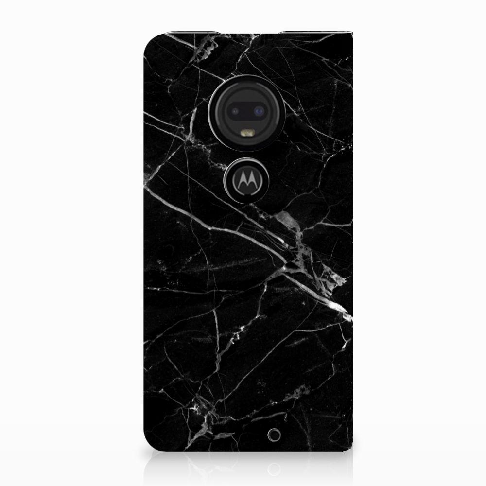 Motorola Moto G7 | G7 Plus Uniek Standcase Hoesje Marmer Zwart
