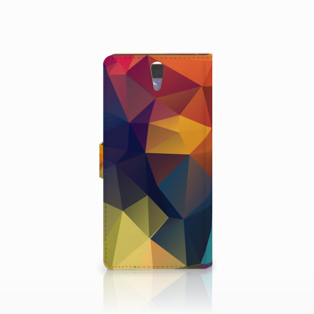 Sony Xperia C5 Ultra Bookcase Polygon Color
