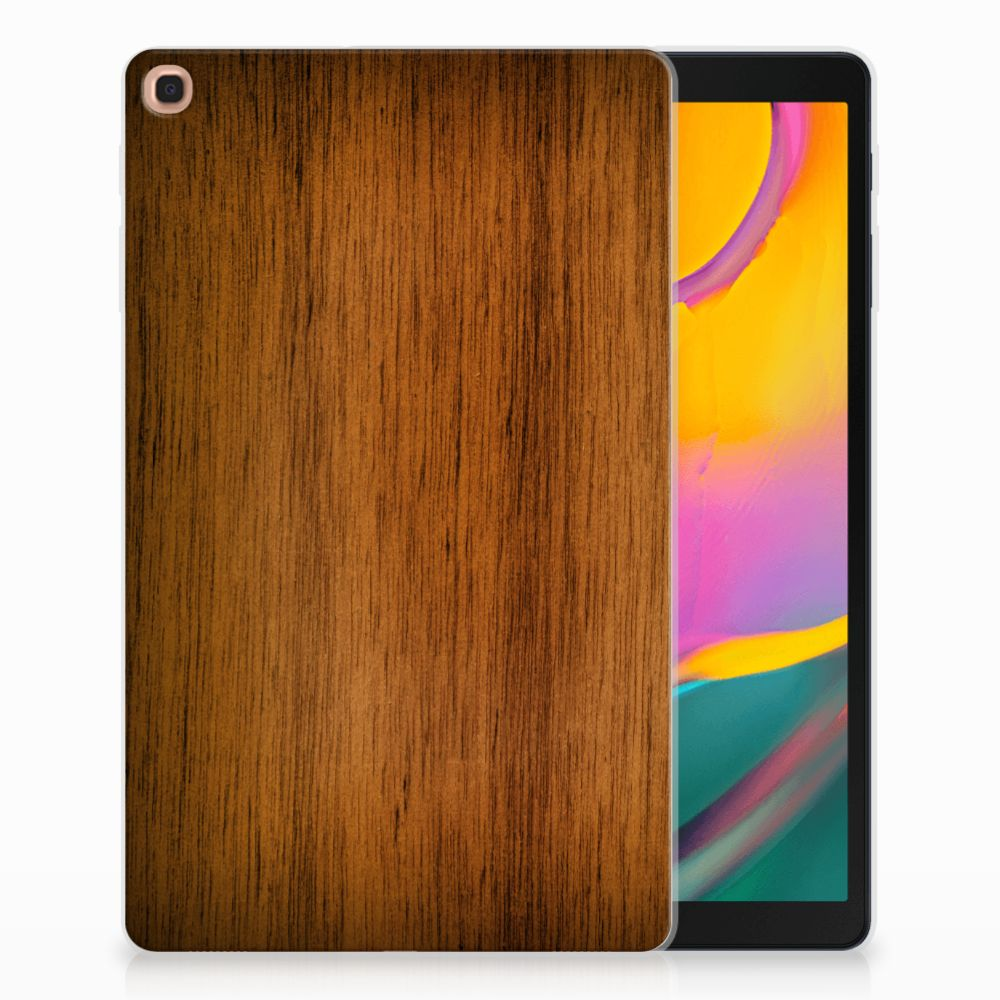 Samsung Galaxy Tab A 10.1 (2019) Silicone Tablet Hoes Donker Hout