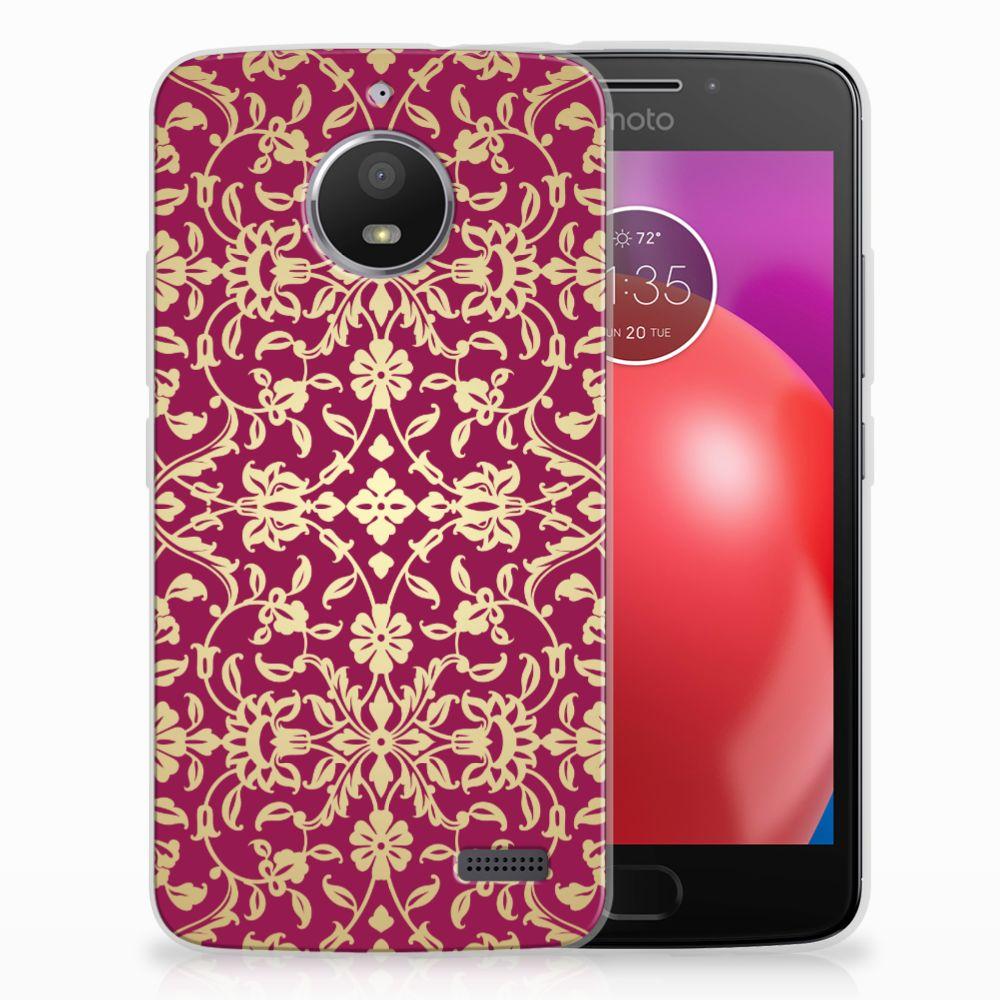 Motorola Moto E4 TPU Hoesje Design Barok Pink