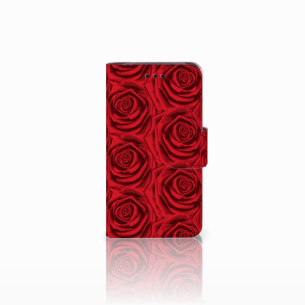 Samsung Galaxy Core i8260 Uniek Boekhoesje Red Roses